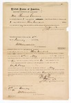1872 January 1: Bond for W.A. Pease, in U.S. v. Pease, for assault with intent to kill; Thomas Turner, surety; James Churchill, commissioner