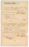 1872 January 20: Bond for defendant, U.S. v. B. F. Ford, murder in Indian country; Joseph C. Adkins and Charles H. Hill, sureties; Edward J. Brooks, commissioner