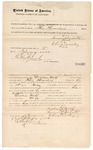 1872 February 9: Bond for defendant, U.S. v. Dickson Wolf, larceny in Indian country; Simon Schote and Ellis Mocky, sureties; Edward Brooks, commissioner