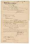 1872 February 10: Bond, in U.S. v. Henry Wood, introduction of spurious liquor into in Indian country; J.N.Bowen surety; James Churchill, commissioner