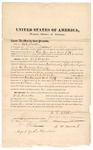 1872 February 22: Bond of for defendant, U.S. v. William C. Walker, for introducing spurious liquors into Indian country; James W. Nicodemus and B.W. Bracket; signed John B. Jones, agent for the Cherokees