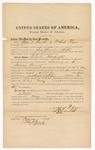 1872 February 24: Bond for witnesses, Samuel Smith and Michael Flynn, U.S. v. Charles Washington, larceny in Indian country; Edward J. Brooks, commissioner
