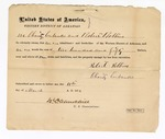 1872 March 11: Bond for defendant, U.S. v. R.N. Zachary, larceny; Charity Eubanks and Robert Robbins, sureties; James Churchill, commissioner