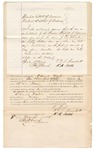 1872 March 7: Bond for defendant, U.S. v. Daniel West, violation of Indian reservation law, selling spirituous liquors in Indian country without paying special tax; W.M. Shield and T.T. C. Brackett, sureties; Edward Brooks commissioner