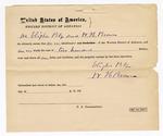 1872 May 13: Bond for defendant, U.S. v. Charles Washington, larceny; Elisha Bly and W.H. Brown, sureties