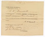 1872 May 21: Bond of B.W. Bracket; J.C. Pritchard, commissioner