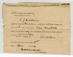 1872 June 11: Bond signed by J.C. Adkins; James Churchill, commissioner