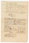 1872 August 1: Bond for appearance, U.S. v. George Grubb, murder in Indian country; James Beam, surety; Edward Brooks, commissioner
