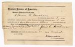 1872 August 22: Bond of James H. Mershon; James Churchill, commissioner