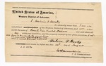1872 August 22: Bond of Calvin O. Moody; James Churchill, commissioner