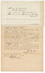 1872 August 24: Bond for defendant, U.S. v. Francis Wells, assault with intent to kill in Indian country; E.N. Jenkins, surety; Edward Brooks, commissioner