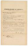 1872 September 20: Bond for witness, U.S. v. J.F. Vanhoy, being a retail liquor dealer; W.C. King, surety; Edward Brooks, commissioner