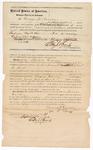 1872 September 21: Bond for defendant, U.S. v. Thomas Garvey, assault with intent to kill; George W. Murray, surety; Edward Brooks, commissioner