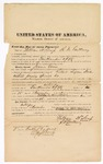 1872 October 3: Bond for witness, U.S. v. Jennie Vaun, retail liquor dealer without paying special tax; William H Corp and R.D. Gallmay, sureties; Edward Brooks, commissioner