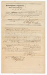 1872 October 3: Bond for defendant, U.S. v. Sally Wilson, selling liquor without paying special tax; J.S. Gage, surety; Edward Brooks, commissioner