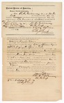 1872 October 3: Bond for defendant, U.S. v. Jennie Vann, selling spirituous liquor without paying special tax; R.D. Gallaway and W.N. Cross, sureties; Edward Brooks, commissioner