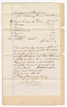 1872 November 15: Bond for appearance, U.S. v. Solomon Foster, violation of Indian reserve law; J.C. Cunningham, surety; Edward Brooks, commissioner; and schedule of property, J.C. Cunningham, Fort Gibson, Oklahoma; Signed Edward Brooks, Western District commissioner