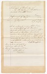 1872 November 16: Bond for defendant, U.S. v. William Woods, larceny; E.M. Henry Ford, surety; Edward Brooks, commissioner