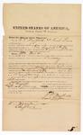 1872 November 16: Bond for witness, U.S. v. William Woods, larceny; F.T. Mayfield and Samuel Lane, sureties; Edward Brooks, commissioner