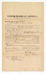 1872 November 21: Bond for witnesses, U.S. v. John Ward, larceny in Indian country; William T. Davis and Myron Sheldon, sureties; Edward Brooks, commissioner