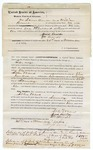 1872 November 21: Bond for defendant, U.S. v. John Ward, larceny in Indian country; also signed James Duncan and William Howell; Edward Brooks, commissioner