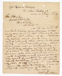 1873 February 1: Letter on to William Story, pertaining to bond and casework, on stationary of the Office Register in Bankruptcy No. 5 Adams Building, Little Rock, Arkansas, signed A.W. Bishop