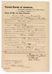 1873 April 20: Bond for defendant, U.S. v. Walter S. Ward, for introducing spirituous liquors into Indian country; Lafayette Ward and B.F. Henky, sureties; James Churchill, commissioner