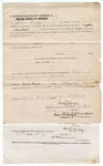 1873 July 24: Bond from day to day, U.S. v. Michael French, for larceny in Indian country; John Cazy, surety; James Churchill, surety