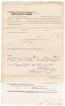 1873 September 19: Bond for defendant, U.S. v. Preston Zander, larceny in Indian country, A.D. Irwin and James Lord, sureties