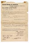 1873 May 28: U.S. v. John Walker, murder; H.D. Reese, Daniel R. Hicks, and Arch Scraper, sureties; signed John B. Jones, Agent for Cherokees