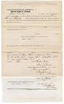 1873 June 4: Bond for defendant, U.S. v. Caesar Graham, alias Caesar Colbert, assault with intent to kill; Sam Chalk, surety; Edward Brooks, commissioner