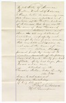 1873 August 27: Proclamation of worth situated in Cherokee Nation Indian country, by Alex Porter; Floyd C. Babcock, commissioner