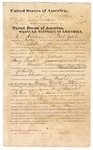 1873 October: Statement of services by C.S. Hawkins of Fort Smith regarding his services aiding U.S. deputy marshal J.E. Lacy in the transport of Henry Marshal, charged with larceny, from the Cherokee nation