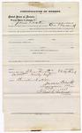 1873 October 1: Bond for defendant, U.S. v. James Wright, larceny, James Cook, surety; Floyd Babcock, commissioner