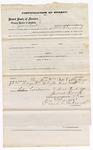 1873 October 7: Bond for defendant, U.S. v. James Wright, larceny, James Cook, surety; Floyd Babcock, commissioner, including justification of surety