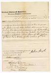 1873 August 30-October 23: Proceedings before commissioner, for U.S. v. B.C. Hurd, larceny of property of Gilbert Reaves; witnesses include Gilbert Reaves, O. Mills (Miller), N.C. Loving, and Mrs. Reaves; James Churchill, commissioner