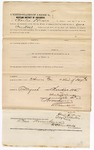 1873 November 10: Bond for defendant, U.S. v. Joshua Whitmore, for being a retail liquor dealer without paying tax, Charles Hewes and Eliza Mauley, sureties; James Churchill commissioner