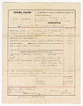 1875 April 12: Voucher, U.S. v. Jobus Postouk, larceny in the Indian Country; subpoenas for witnesses Moses Riclurette, Robert Spruse, Livi Graysue, Joseph Cove; includes cost of traveling, mileage, feeding of prisoners; J. P. Helurett, deputy U.S. marshal; Jarves O. Plurcill, commissioner; witnessed by F.C. Babcock