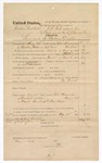 1874 November 16: Voucher, U.S. v. Calvin Calberk, larceny in the Indian Country; includes cost of travel expenses, transportation, and food for prisoner; served by W.V. Alexander; J.O. Churchill, clerk; E.J. Brooks, commissioner