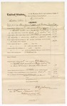 1874 November 30: Voucher, U.S. v. Cephus Peters, introducing spirituous liquor into Indian Country; includes cost of travel expenses, feeding prisoners, and transportation; served by F.V. Johnson, U.S. deputy marshal; E.J. Brooks, commissioner