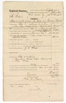 1874 September 2: Voucher, U.S. v. James Roberts, assault with intent to kill in Indian Country; includes cost of travel expenses, feeding prisoner, and transportation; served by H.J. Beerr; C.J. Brooks, commissioner; writ issued by James O. Churchill, clerk