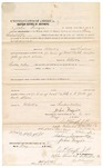 1874 May 6: Bond for defendant, U.S. v. William Ward, larceny in the Indian Country and electing to wane examination and give bail for his appearance transfer; John Frazier, surety; C.P. Snift, justice of the peace