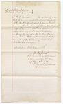 1874 May 8: Bond of defendant, U.S. v. Dock Williams, larceny; Sophia Williams, John F. Lyons, M.C. Jones, sureties; Floyd C. Babcock