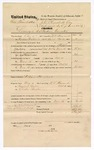 1874 November 16: Voucher, U.S. v. Sam Tarnatuffe, larceny in the Indian Country; includes cost of feeding prisoner,