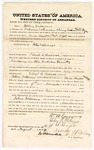 1874 August 16: Bond of defendant, U.S. v. John R. Williams, larceny in the Indian Country; William Conway, John R. Milliary, J.S. Isage, sureties; Floyd C. Babcock