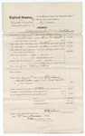 1874 November 30: Voucher, U.S. v. Smith Hanford (alias Dunford), larceny in the Indian Country; includes cost of mileage, feeding prisoner, and transportation; served by F.U. Johnson, U.S. deputy marshal; E.J. Brooks, commissioner