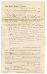 1874 December 18: Contract for posse comitatus, William Smith, in U.S. v. William Thomas, assault with intent to kill; J.C. White, U.S. deputy marshal; James O. Churchill, clerk