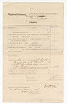 1874 November 30: Voucher; subpoena served by J.H. Cooper, U.S. deputy marshal; served on J.W. Ellis, Alice May, and Joe Prince; James O. Churchill, clerk
