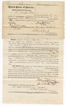 1874 September 26: Bond for defendant, U.S. v. William Ward, larceny in the Indian Country; Joseph Ward and J.E. Meaux, sureties; Edward J. Brooks, commissioner; containers letter of surety from Joseph Ward and J.E. Meaux