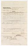 1874 September 26: Voucher, U.S. v. James Fleury, larceny in the Indian Country; subpoenaed witness S.E. Stitnell; J.C. White, U.S. deputy marshal; James O. Churchill, clerk